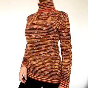LIKE NEW Mondi textured orange turtleneck sweater